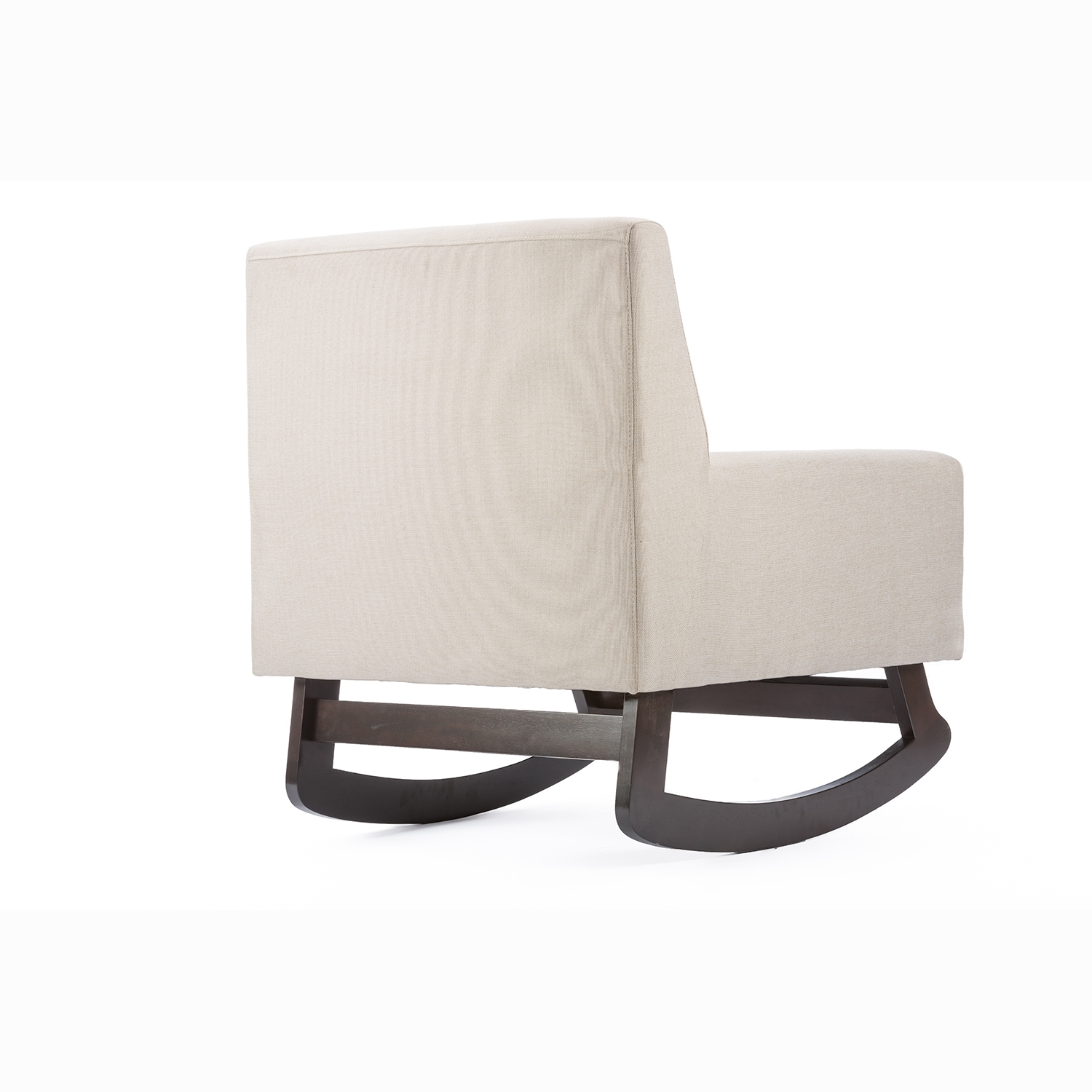 Shop Contemporary Fabric Rocking Chair By Baxton Studio   Free Shipping  Today   Overstock.com   9984289