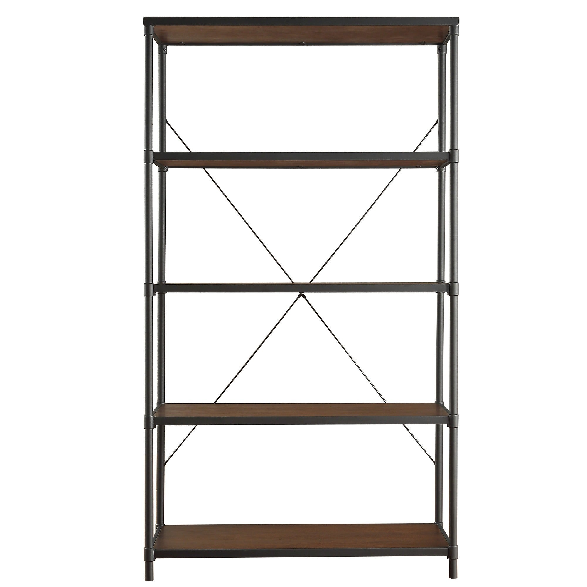 Shop Harrison Industrial Rustic Pipe Frame Shelf Media Tower by ...