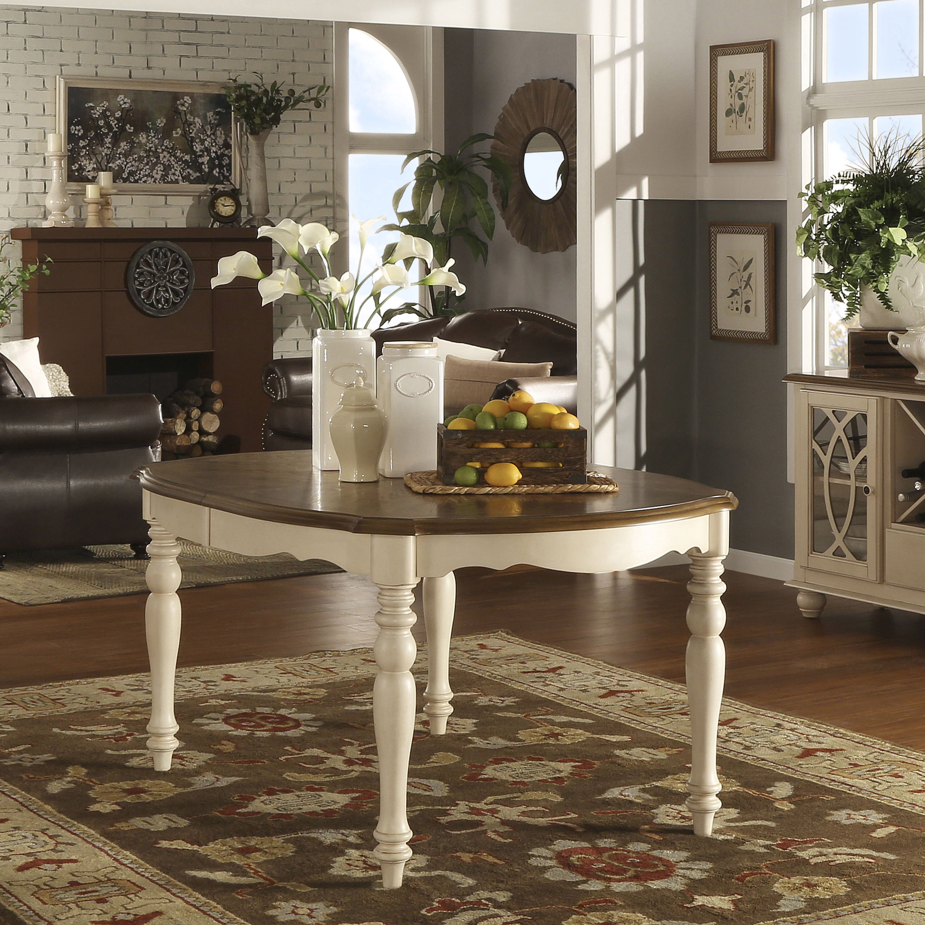 Merveilleux Shayne Country Antique Two Tone White Extending Dining Table By INSPIRE Q  Classic   Antique White