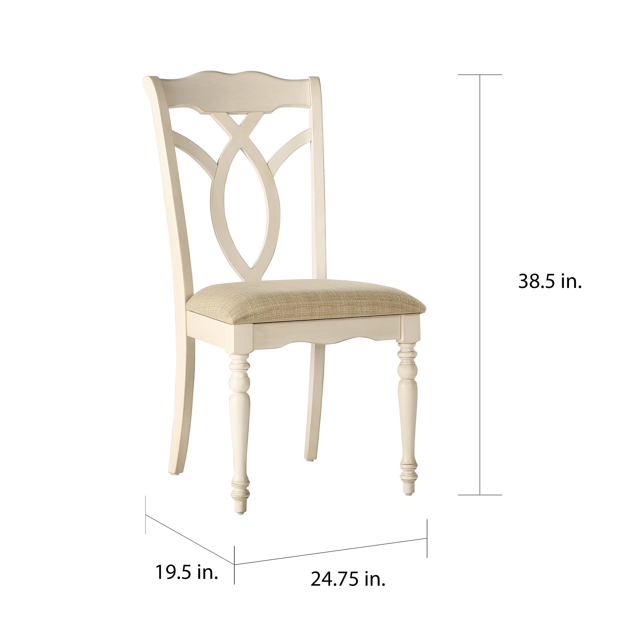 Shayne Country Antique White Beige Dining Chairs by iNSPIRE Q Classic (Set  of 2) - Free Shipping Today - Overstock.com - 17136472