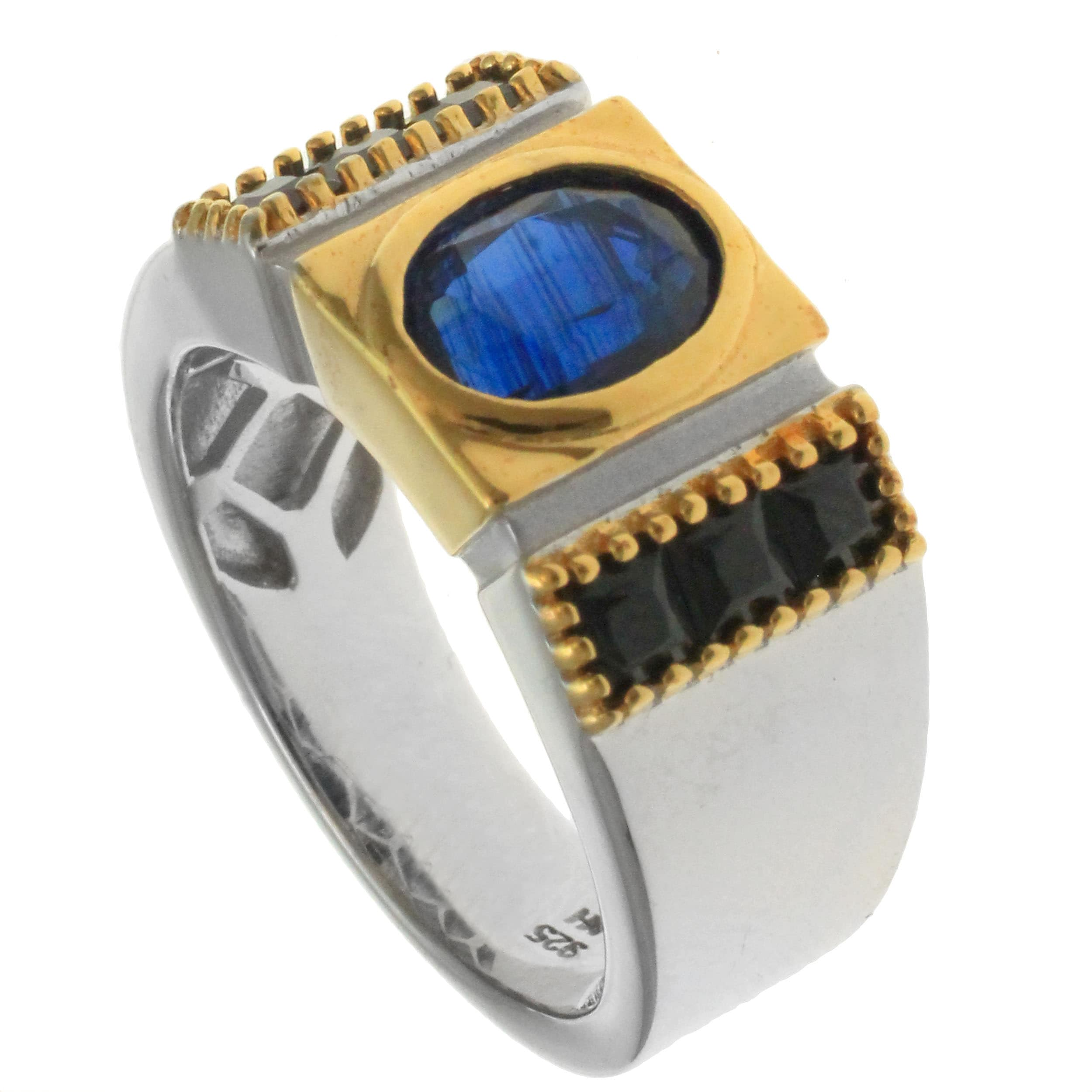 silver blue product free or menslabradorite kyanite sapphire rings labradorite and shipping ring overstock today michael jewelry mens men valitutti watches palladium slabradorite