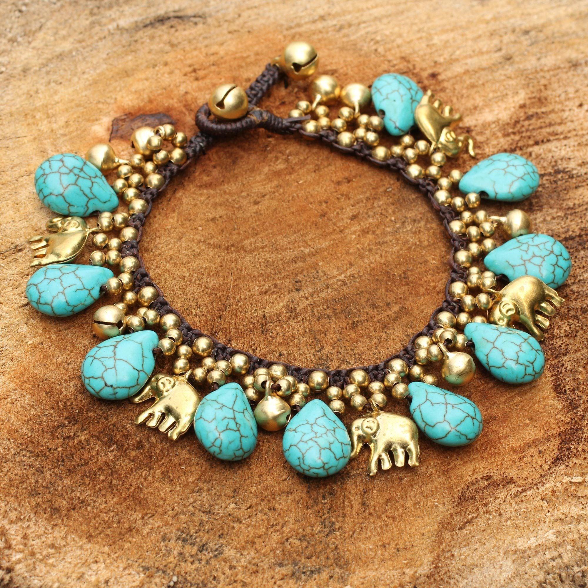 Shop Handmade Brass \'Siam Legacy\' Calcite Bracelet (Thailand) - Free ...