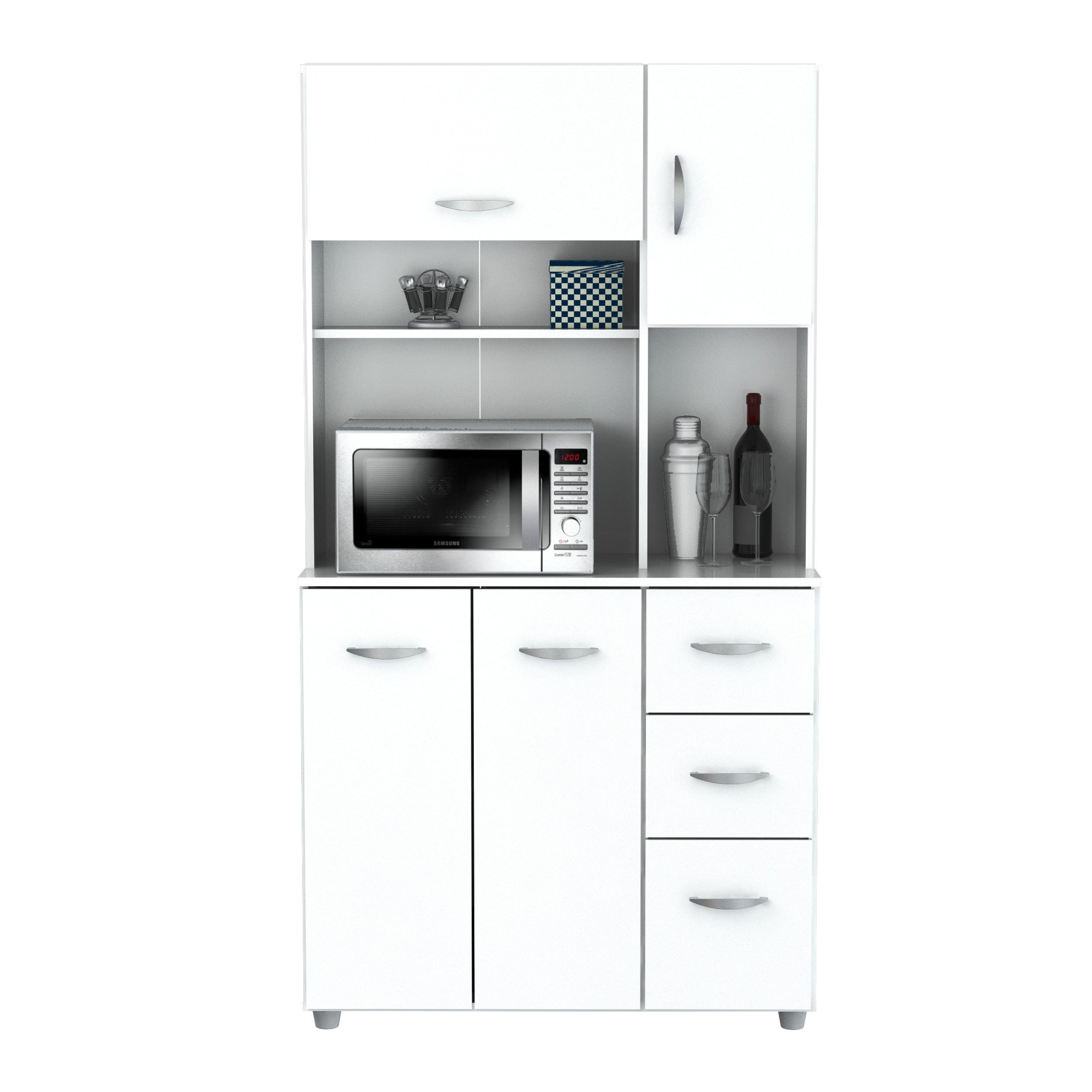 Shop inval america llc laricina white kitchen storage cabinet on sale free shipping today overstock com 9988425