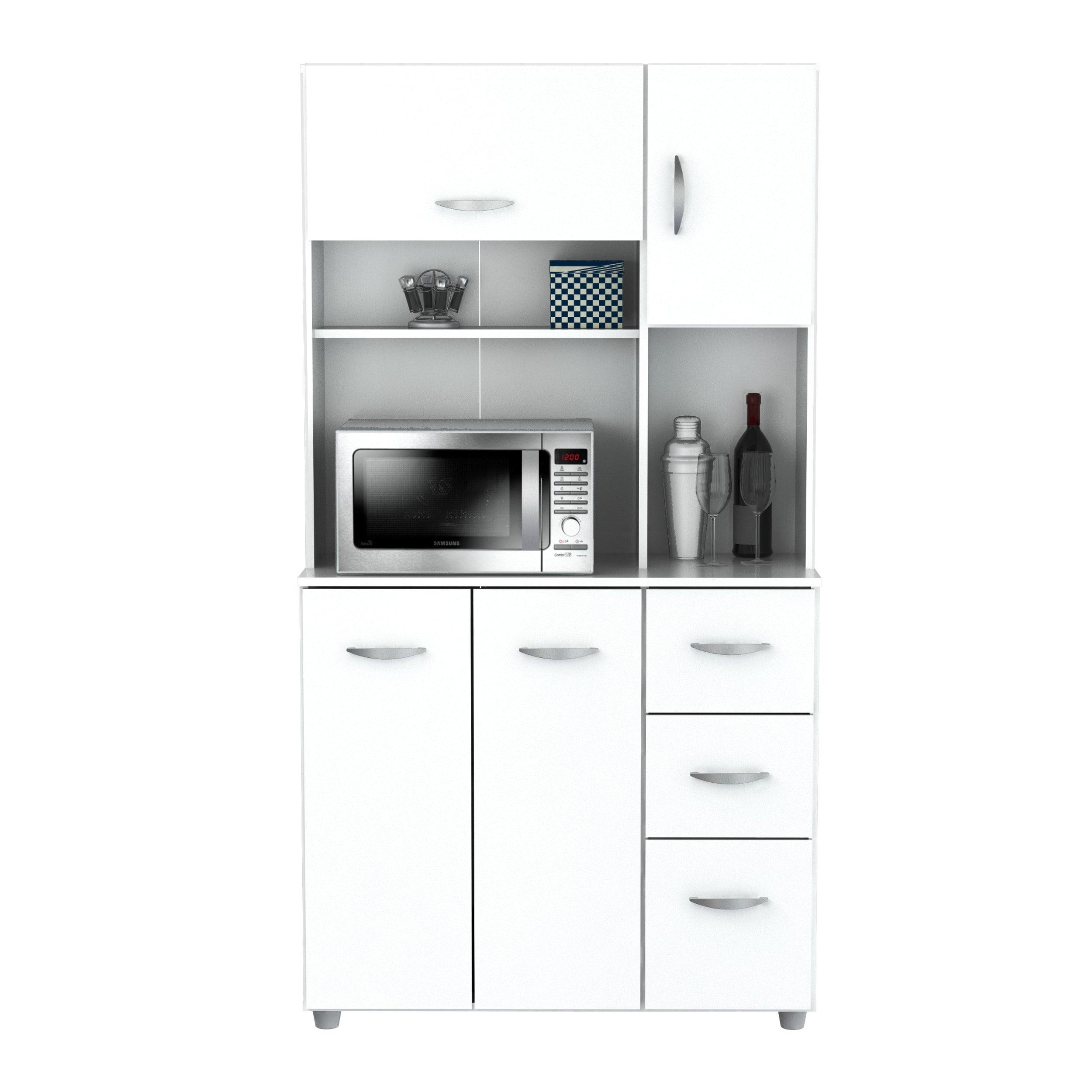 Shop Inval America LLC Laricina White Kitchen Storage Cabinet - Free ...