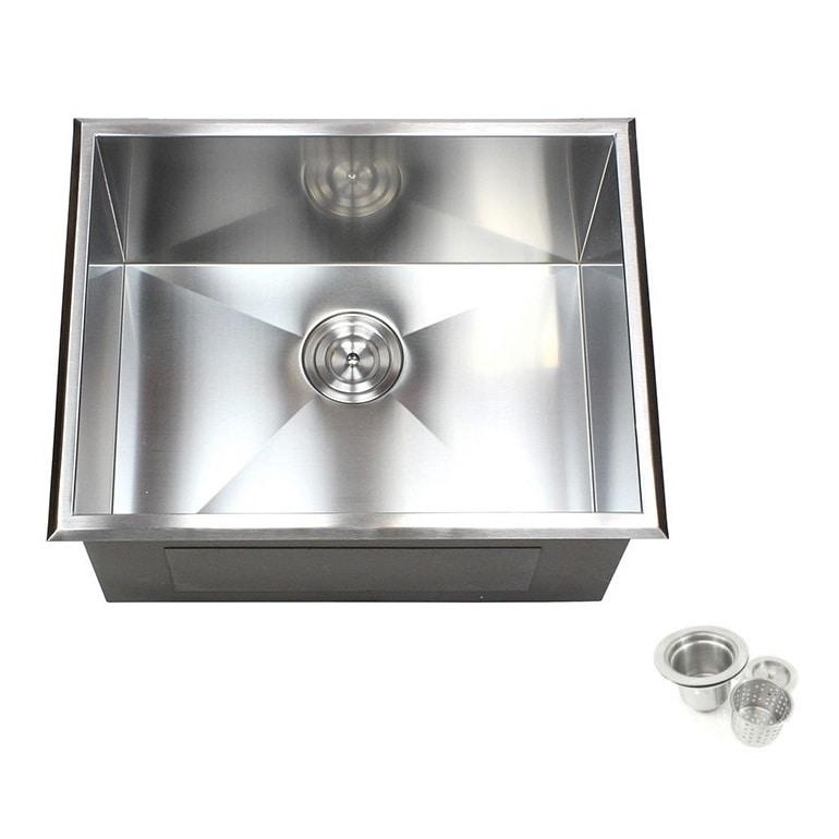 Shop 23-inch Stainless Steel Single Bowl Topmount Drop-in Zero ...