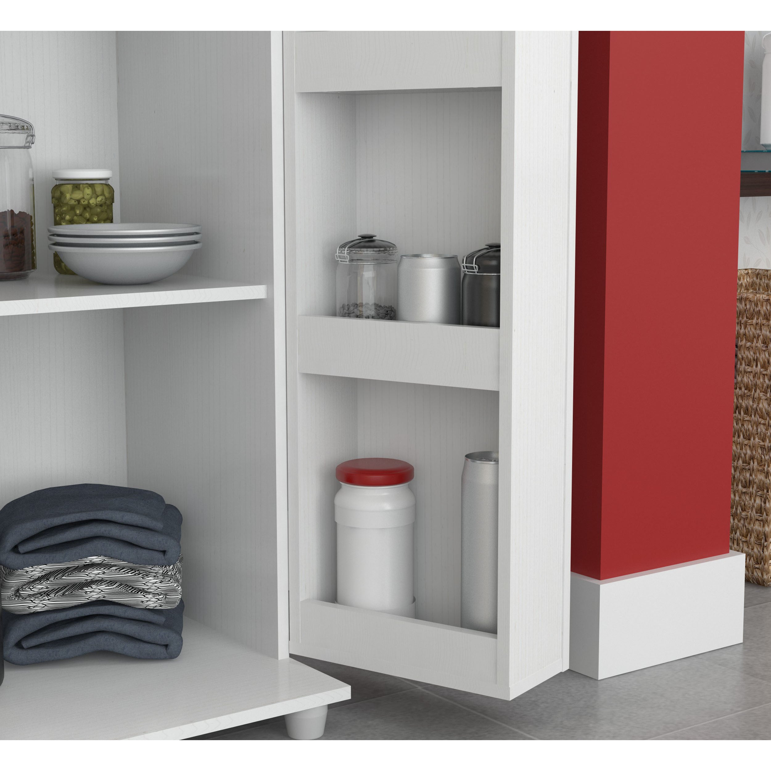 Inval Laricina White Kitchen Storage Cabinet - Free Shipping Today -  Overstock.com - 17139671
