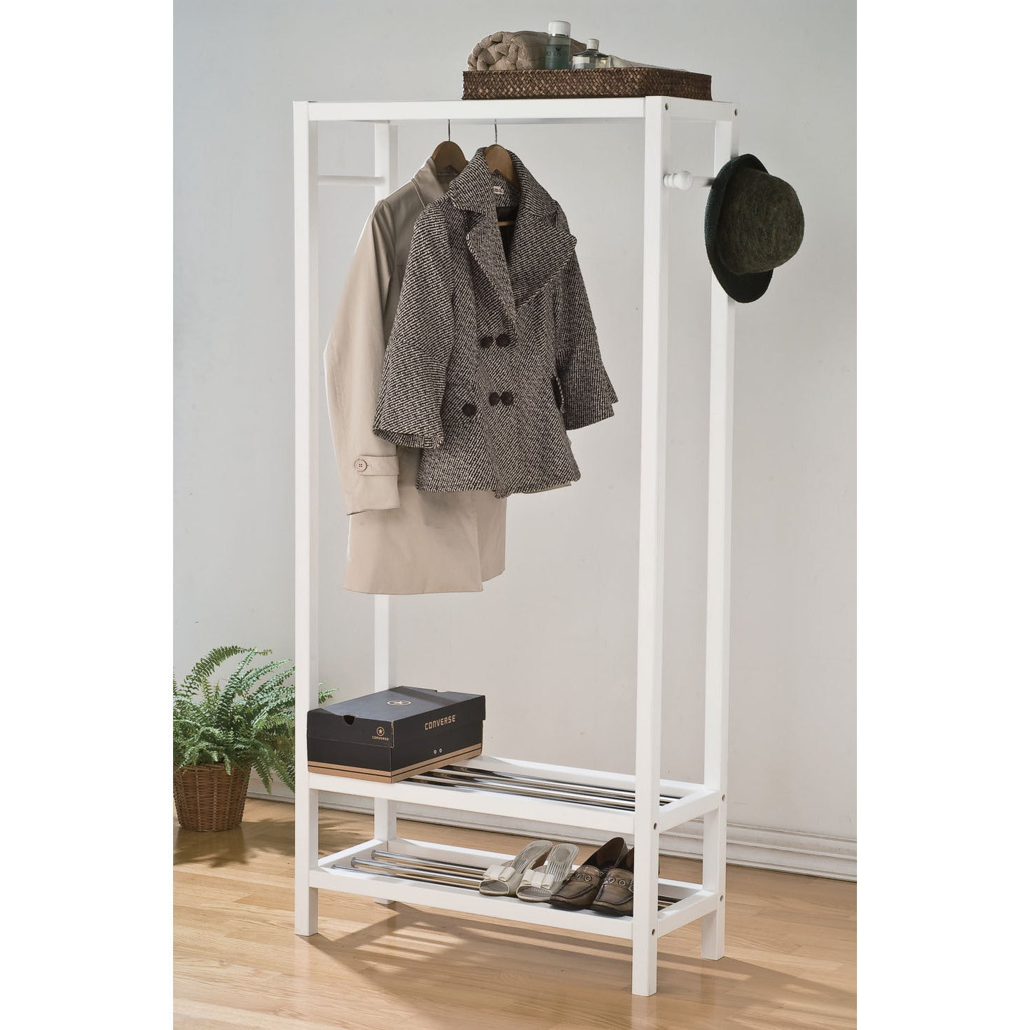 Maeve Wood Garment Storage Rack - Free Shipping Today - Overstock.com -  17141716