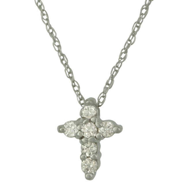 Sterling silver cubic zirconia cross pendant necklace free sterling silver cubic zirconia cross pendant necklace free shipping on orders over 45 overstock 17141903 aloadofball Image collections