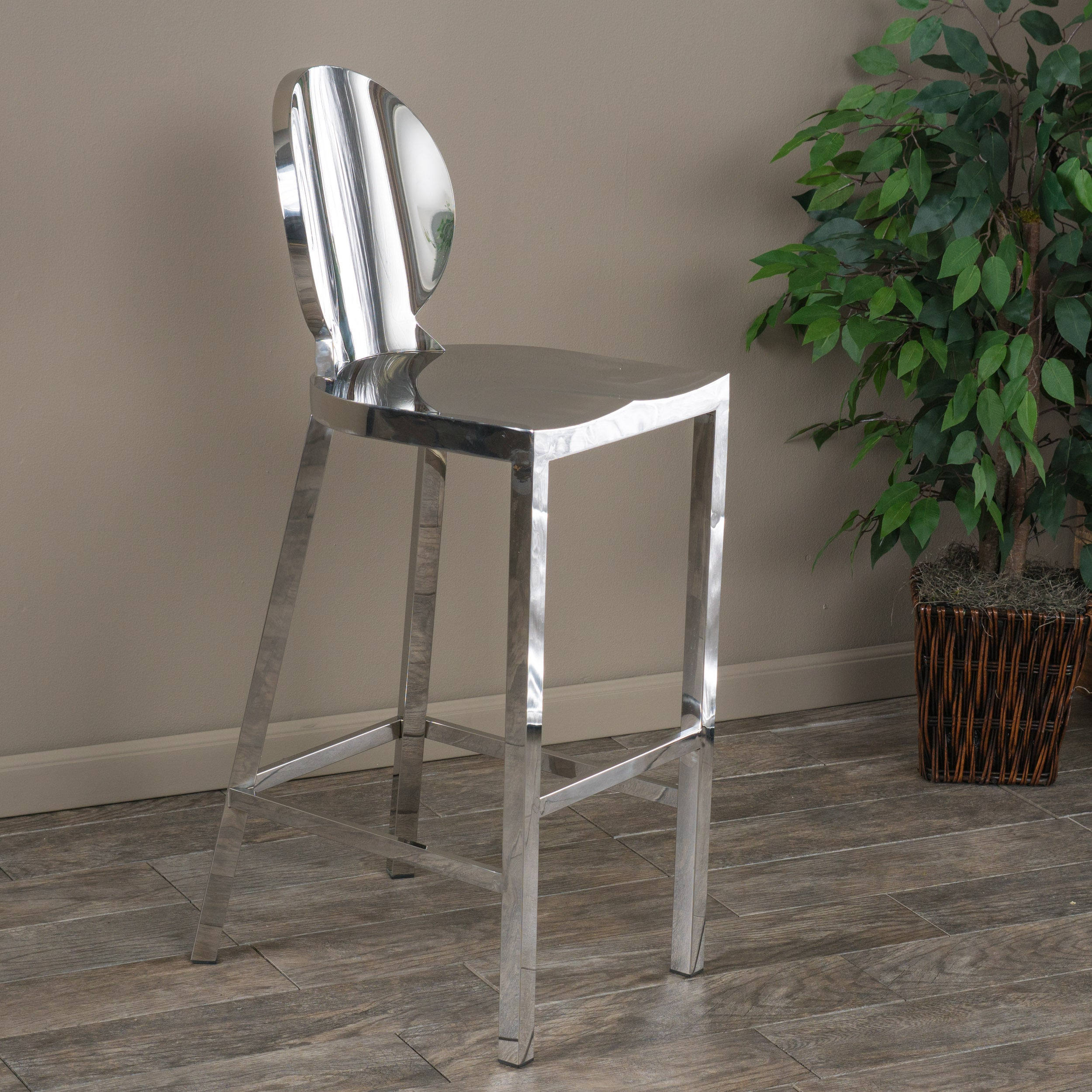 Shop paris 29 inch stainless steel bar stool by christopher knight home on sale free shipping today overstock com 9994493