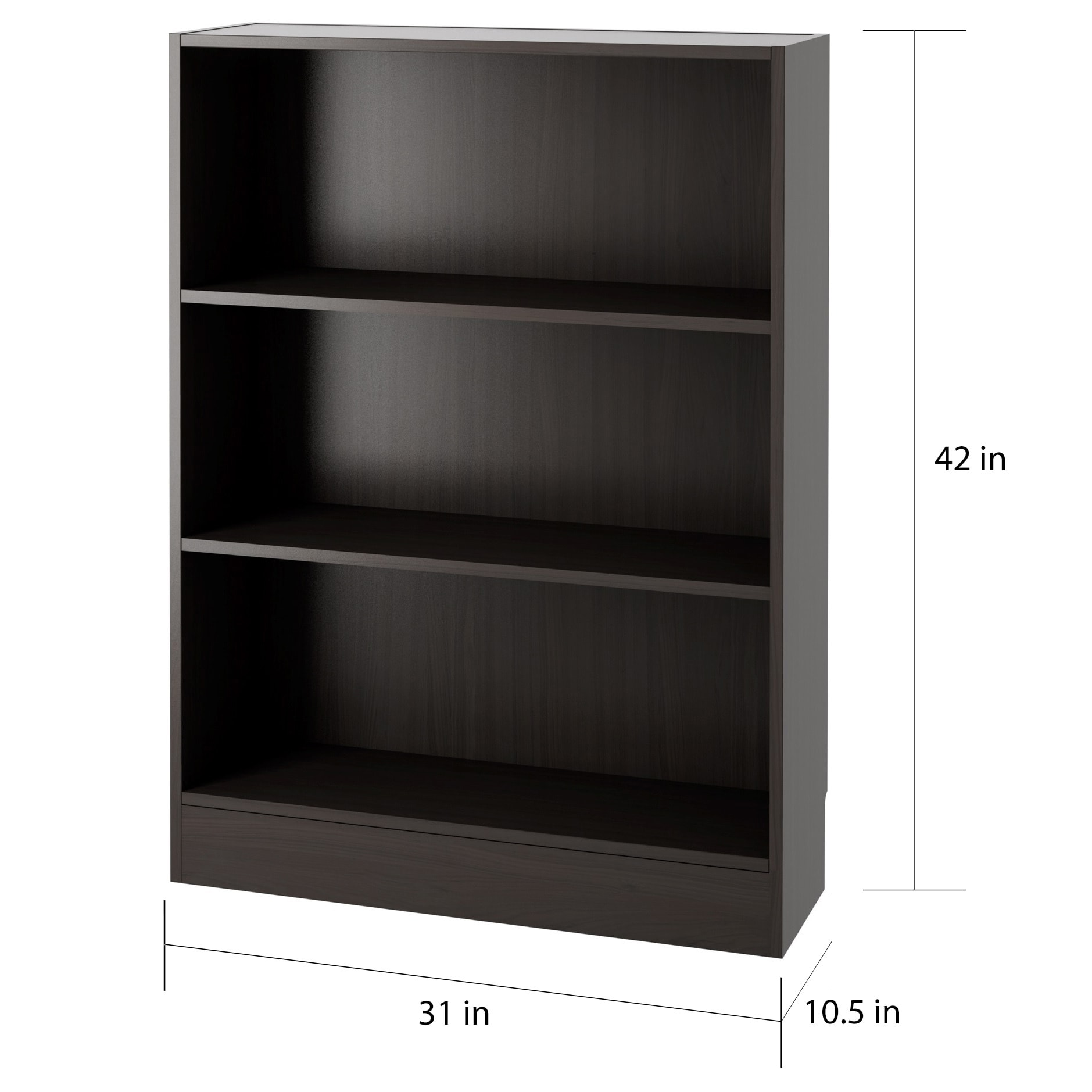 Element Short Wide 3-shelf Bookcase - Free Shipping Today - Overstock.com -  17144184