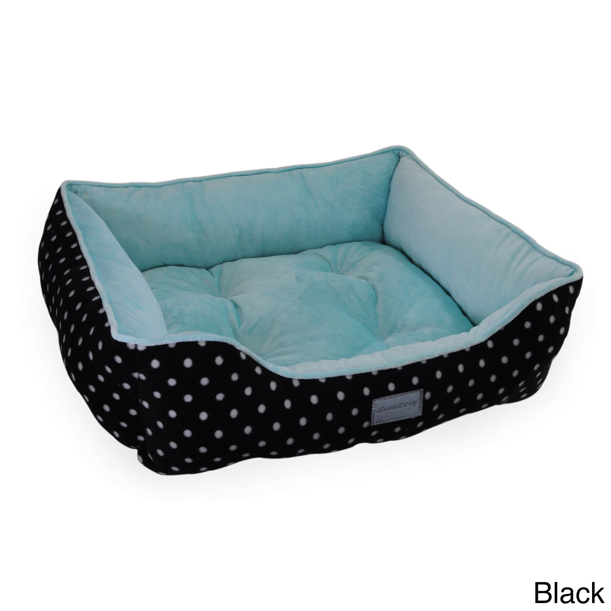 Attractive drowzzzy Polka Dots Print Plush Bolster Pet Bed - Free Shipping On  BJ11