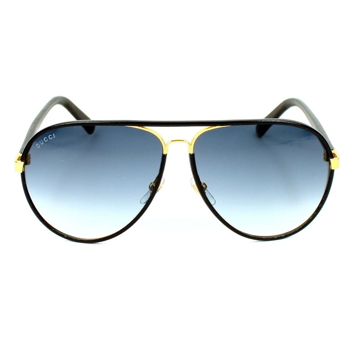 fee4306906f Shop Gucci Men s GG 2887 S Metal Aviator Sunglasses - Black - Free Shipping  Today - Overstock - 9997431
