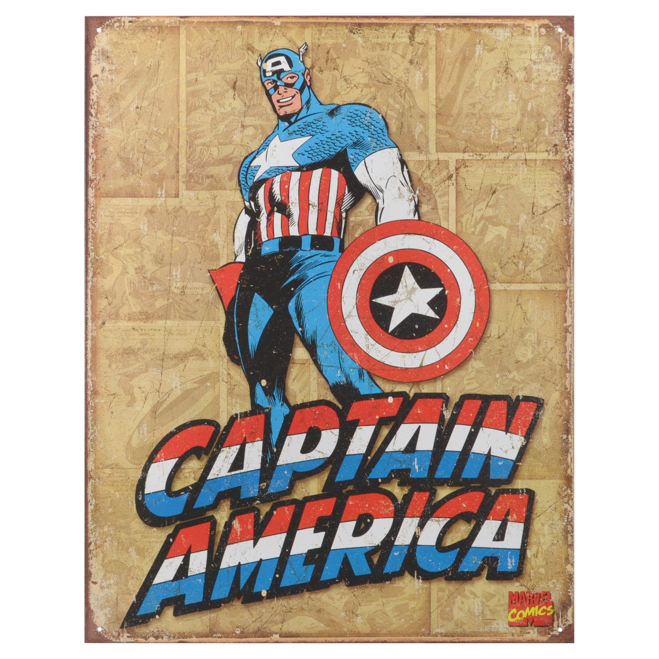 Shop Vintage Decorative Captain America Retro Panels Pre punched