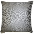 Metallic Cheetah Decorative Feather and Down Filled Throw Pillow