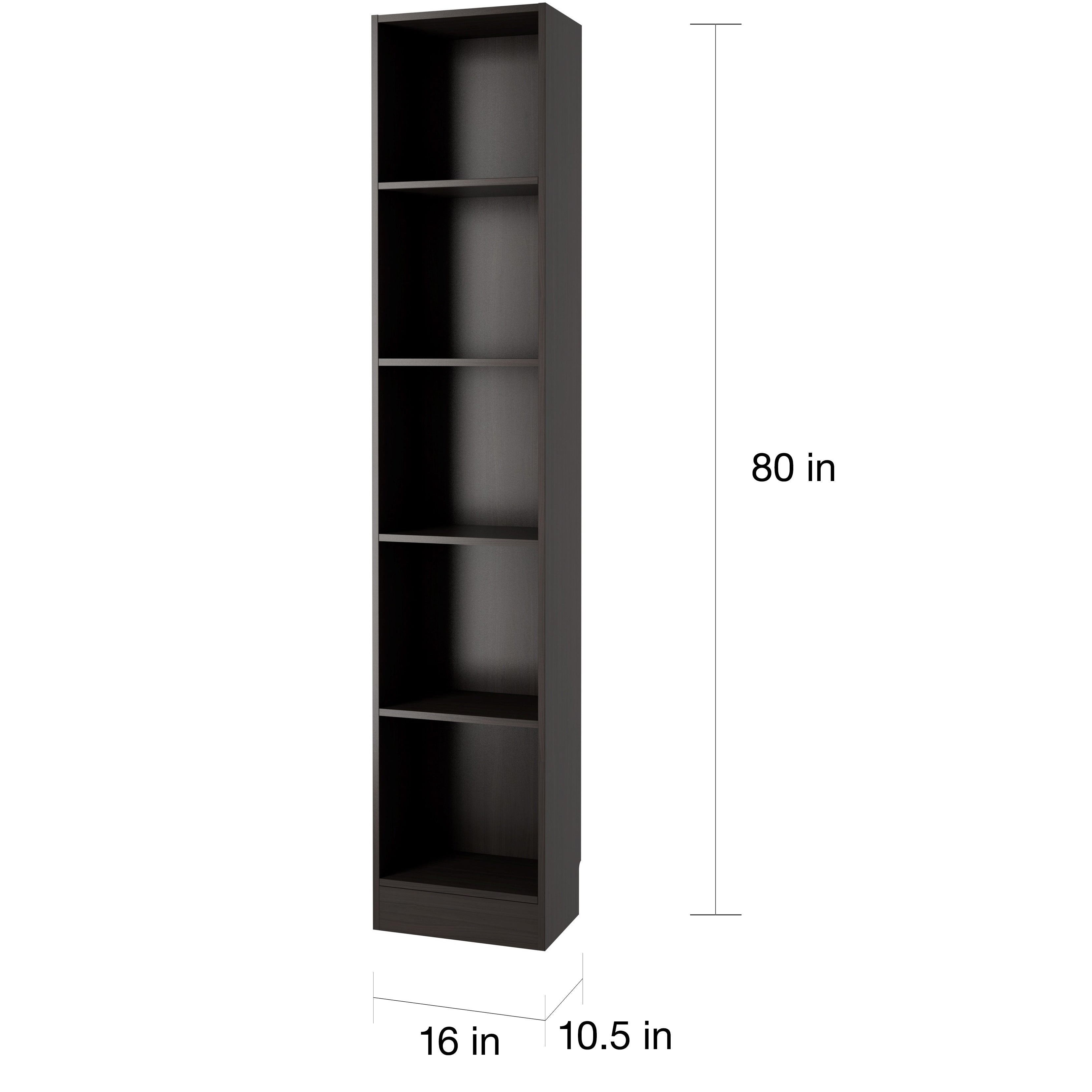 Element Tall Narrow 5-shelf Bookcase - Free Shipping Today - Overstock.com  - 17148536