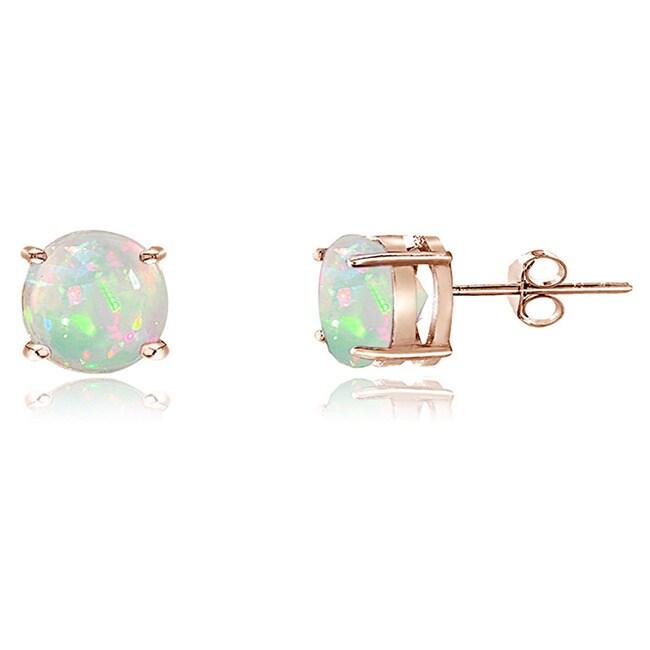 Glitzy Rocks Sterling Silver Ethiopian Opal Stud Earrings White On Free Shipping Orders Over 45 9999504