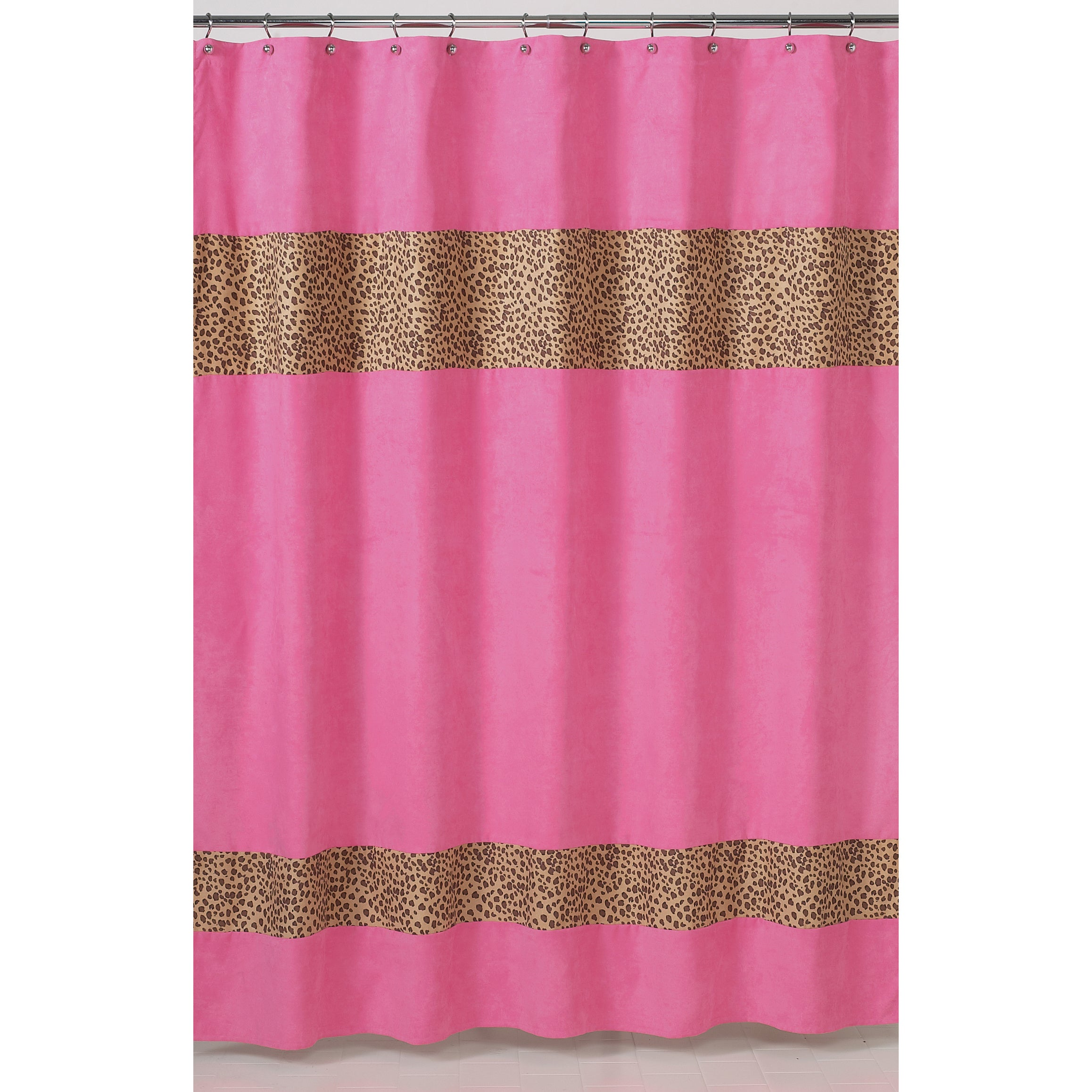 Shop Sweet Jojo Designs Cheetah Girl Pink And Brown Shower Curtain