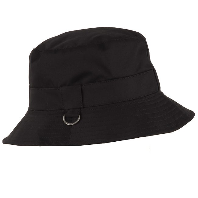 cc6232ab0ab Shop Burberry Black Cotton Bucket Hat - Free Shipping Today ...