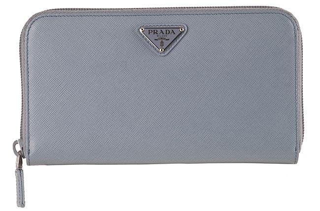c6169610c9f4 ... italy prada light blue leather saffiano checkbook wallet 11781 3dbe7 ...