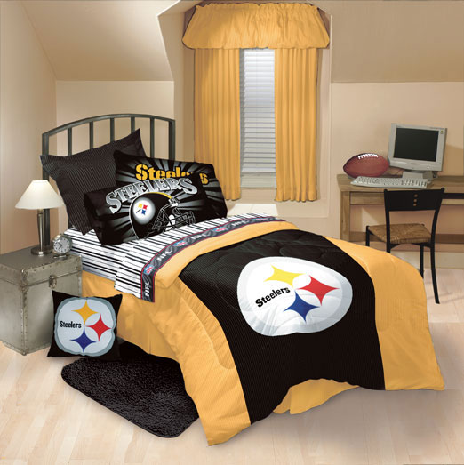Pittsburgh Steelers Comforter And Sheet Set
