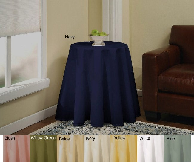 Wonderful Solid 70 Inch Round Tablecloth