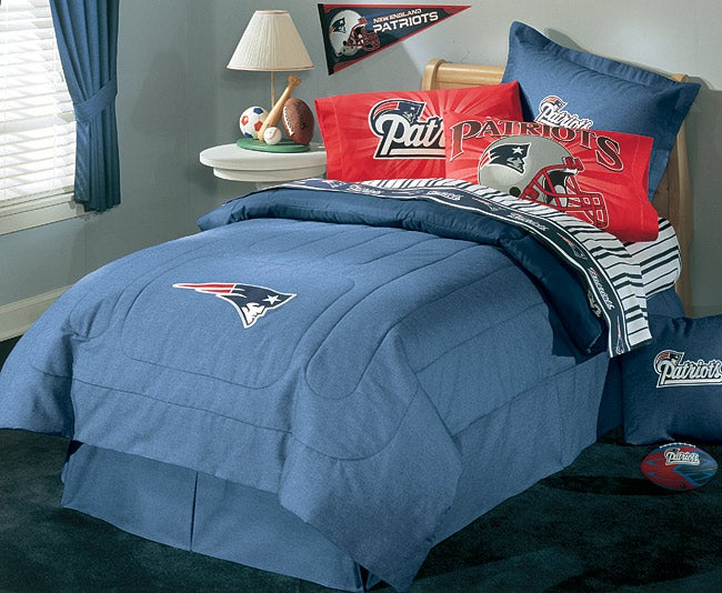Nfl New England Patriots Comforter Set Full