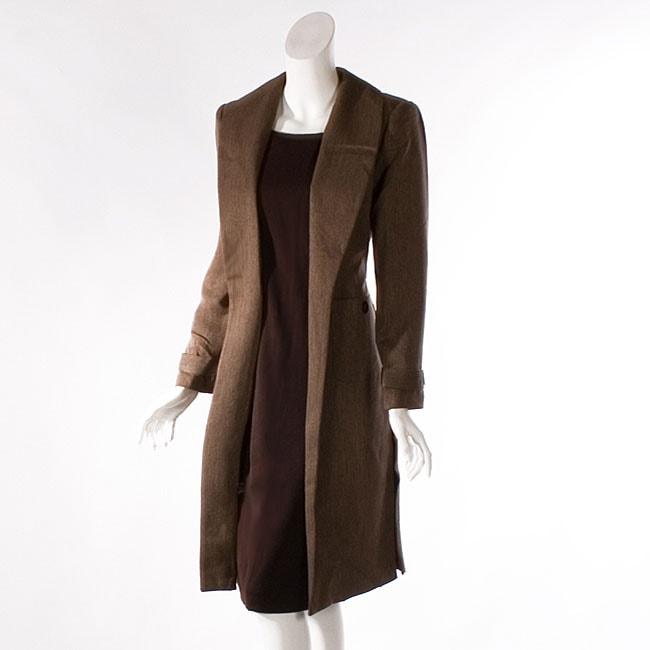 Shop Audrey B Women S Long Suit Coat And Dress Set Free Shipping
