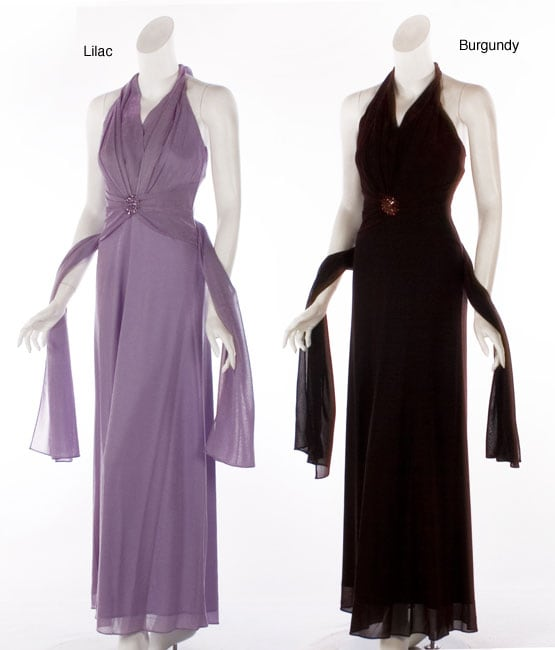 a8c4860295ed Shop Aspeed Women's Wrap Halter-style Formal Dress - Free Shipping Today -  Overstock - 3827298