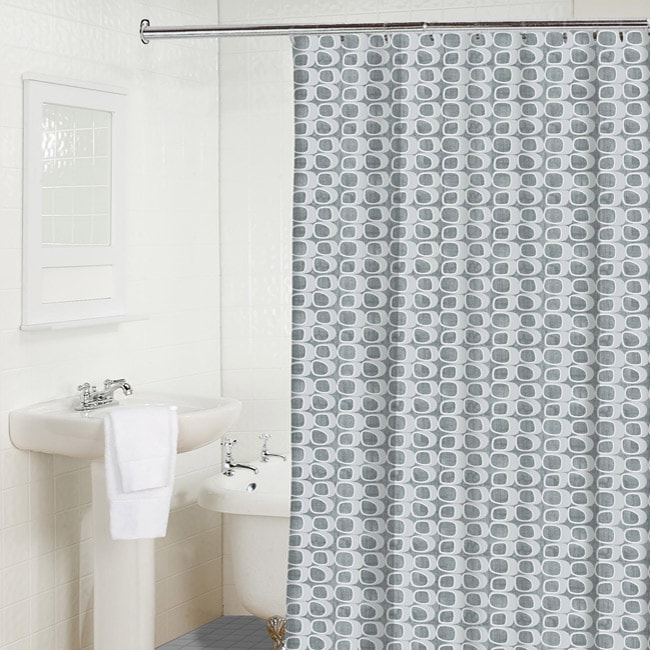 Shop Grey Stones Shower Curtain