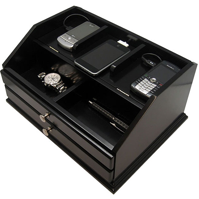c7b4ff1a7cd1 Shop Premier Black Charging Station Valet - Free Shipping Today - Overstock  - 4064124