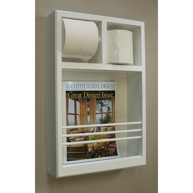 Shop Wallmounted Magazine Rack Toilet Paper Holder Ships To Cool Toilet Paper Holder With Magazine Rack
