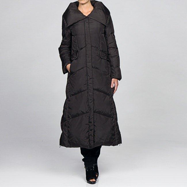 Shop Cole Haan Women s Full Length Down Coat - Free Shipping Today -  Overstock - 4777384 1119436a62