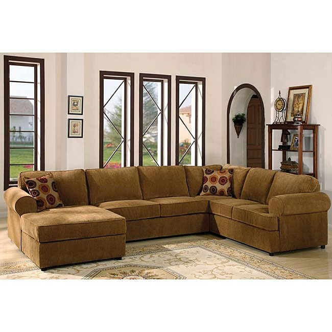 Donna Chenille 3 Piece Sectional Sofa
