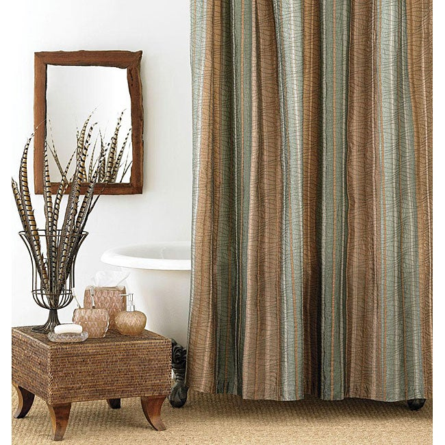 Shop Manor Hill Sierra Extra Long Shower Curtain - Free Shipping On ...