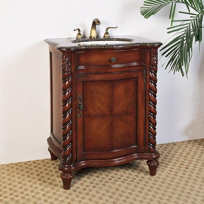 . Granite Top 26 inch Single Sink Bathroom Vanity