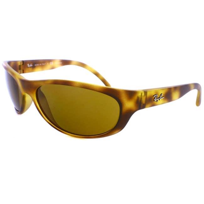 620106907b Shop Ray Ban RB 4029 642S83 Light Havana Plastic Polarized Unisex Sport  Wrap Sunglasses - Free Shipping Today - Overstock - 6853033