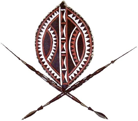 Masai Shield and Spear Set (Kenya)
