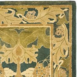 Shop Safavieh Handmade Arts And Craft Dark Green Wool Rug 9 X 12