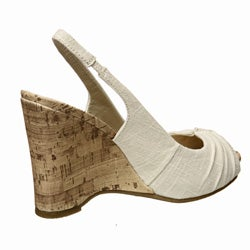 a29e7f12f35 Shop MIA Women s  Lorena  Peep-toe Wedge Sandals - Free Shipping On Orders  Over  45 - Overstock.com - 4584623