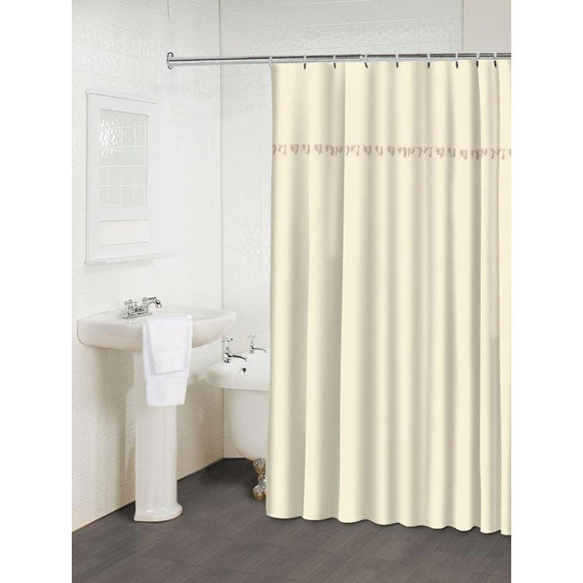 Shop Mata Hari Beige Shower Curtain - Free Shipping On Orders Over ...
