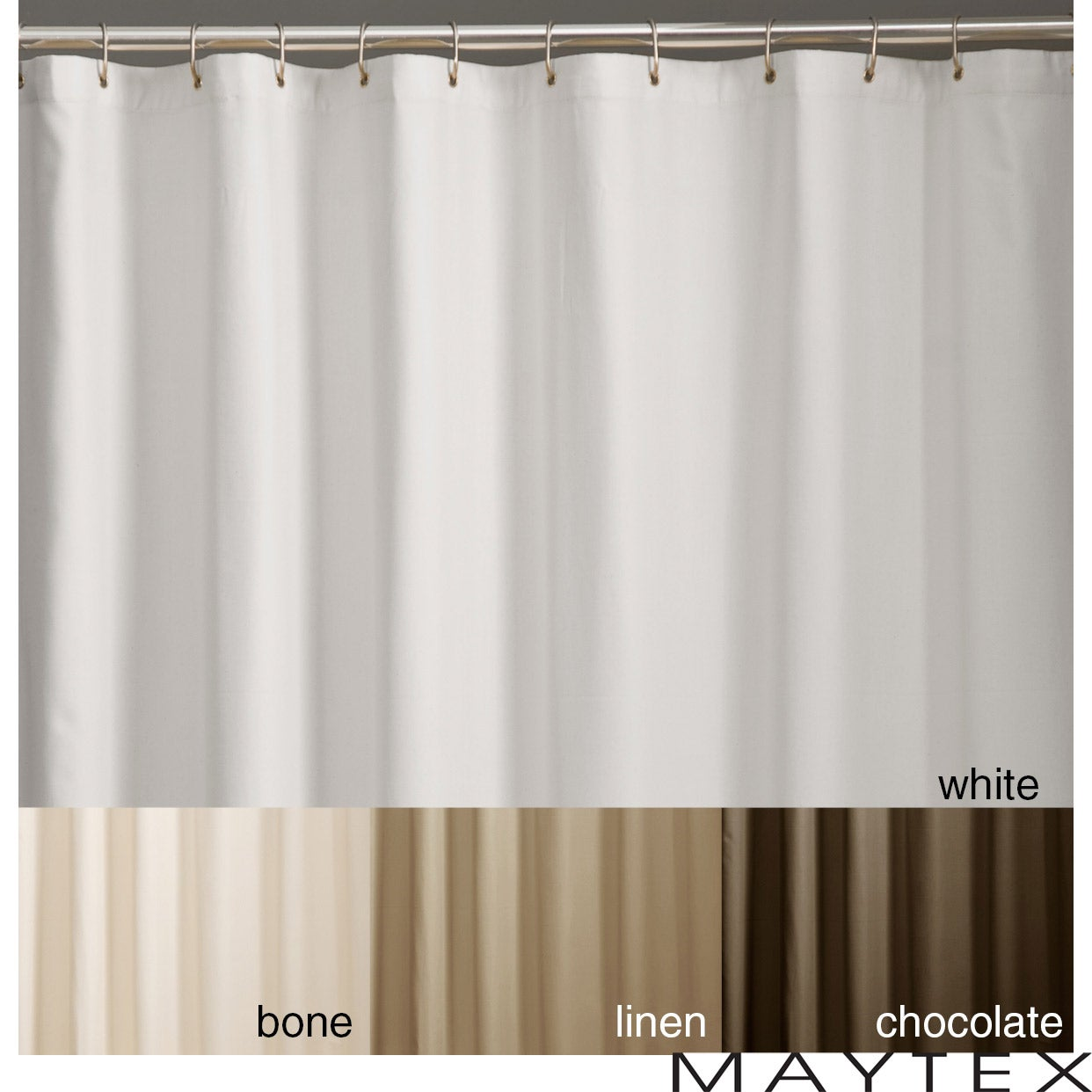 Shop Microfiber Shower Curtain Liner - On Sale - Free Shipping On ...