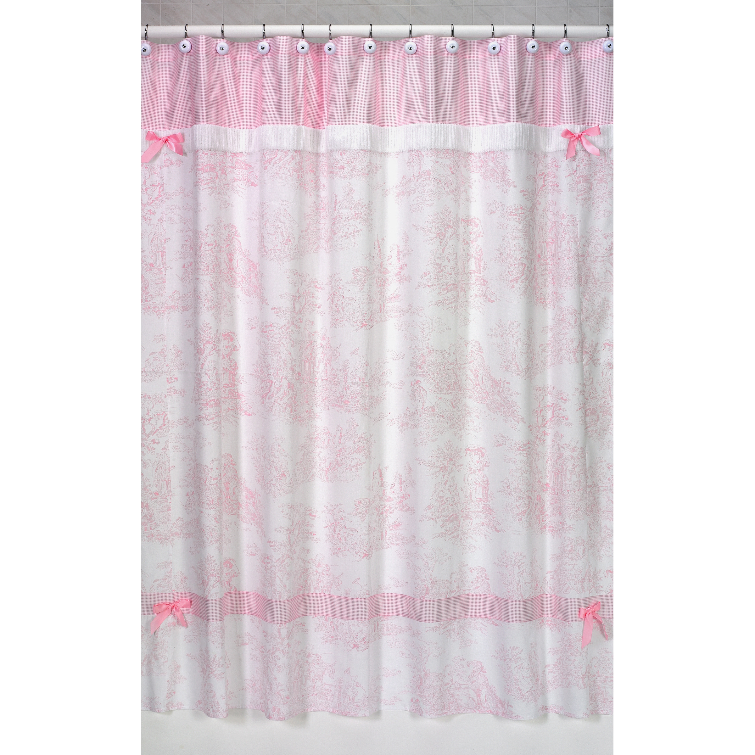 Sweet Jojo Designs Pink French Toile Shower Curtain Free Shipping