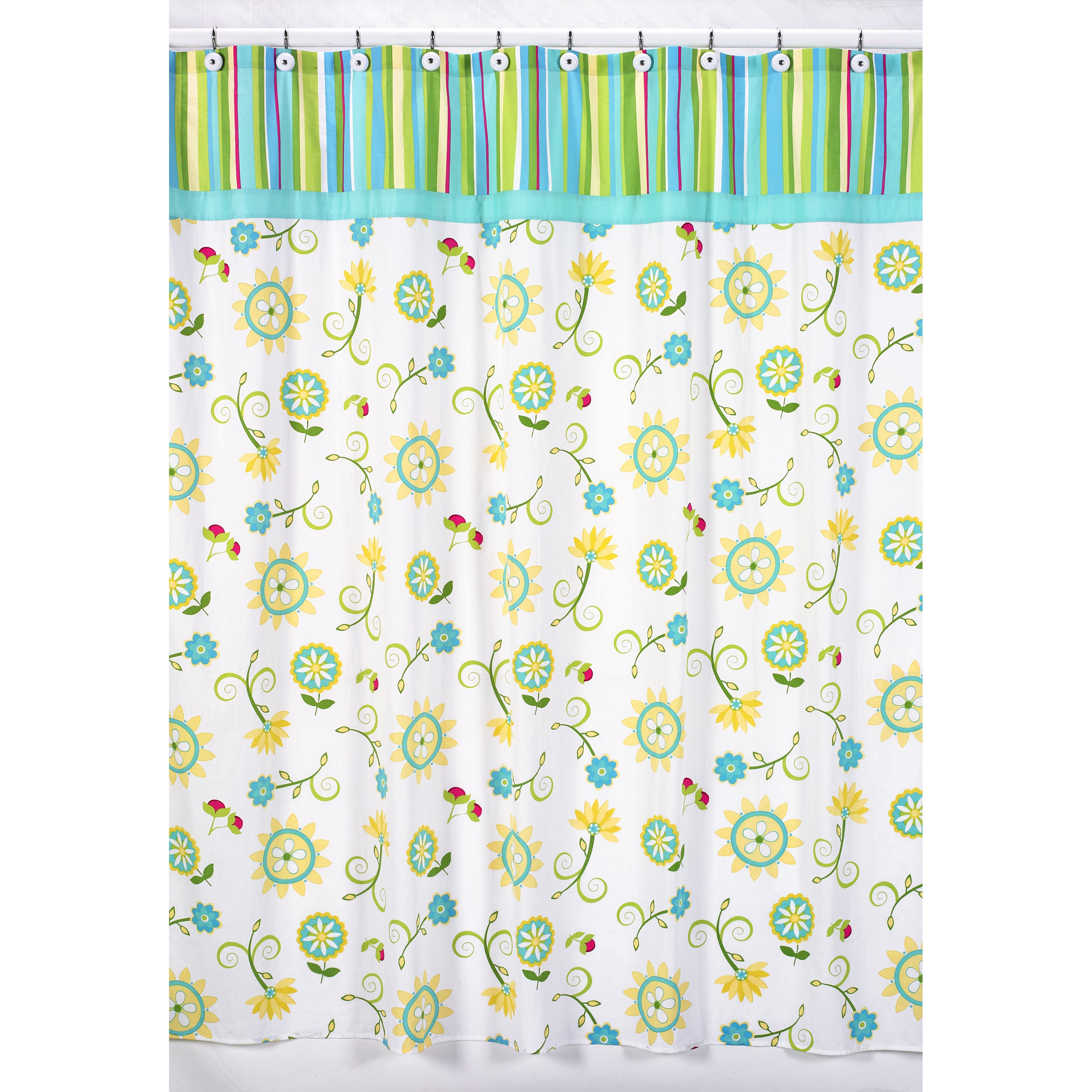 Shop Sweet Jojo Designs Turquoise And Lime Layla Shower Curtain