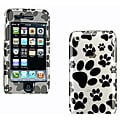 iPhone 3G/ 3GS Crystal Dog Paws White Case