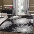Safavieh Handmade Soho Burst Black New Zealand Wool Rug (6' Square)