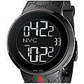 Gucci Men's Rubber Strap Dual-time Digital Watch