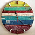 Handmade Beach House Retro Wall Clock (Thailand)