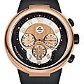 Philip Stein 32-ARG-RBB Men's 'Active' Black Silicone Chronograph Watch