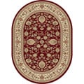 Alise Soho Traditional Style Oval Rug (5'3 x 7'3)