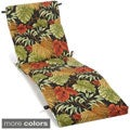 Blazing Needles Patterned All-weather UV-resistant Outdoor Chaise Lounge Cushion